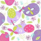 Floral, tarjeta de pascua Foto de archivo
