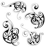 Floral tattoo shapes Royalty Free Stock Photo