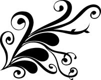 Floral Tattoo Vector Design Stock Image