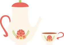 Floral Tea Pot Stock Images