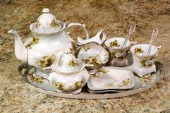 Floral Tea Set Royalty Free Stock Image