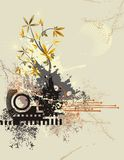 Floral technical background royalty free illustration