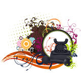 Floral Telephone Vector Design Royalty Free Stock Image