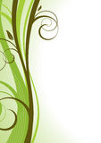 Floral template. Abstract floral green background. Vector stock illustration