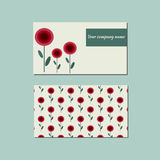 Floral template for business card. Stock Photos