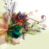 Floral template with colorful florals Royalty Free Stock Photo