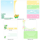 Floral template design Royalty Free Stock Photo