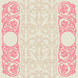 Floral template. Ornament in Art Nouveau style. Template for the invitation Stock Photos