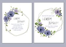 Floral template for wedding invitation. stock illustration