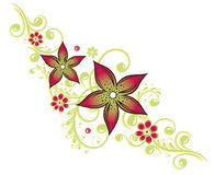Floral tendril, λουλούδια Στοκ φωτογραφία με δικαίωμα ελεύθερης χρήσης