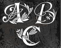 Floral Text abc in the image. Text abc in the image royalty free illustration