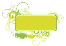 Floral text frame Stock Image
