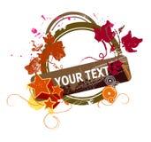 Floral textholder Royalty Free Stock Image