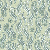Floral Textile seamless Pattern in Indian style. Vector background Royalty Free Stock Photography