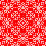 Floral texture with circles and red color Stock Photo