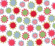 Floral texture. Colorful paper and fabric quilting Stock Photos