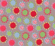 Floral texture. Colorful paper and fabric quilting Stock Images