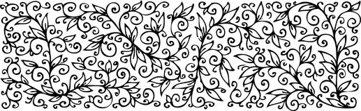 Floral texture. Eau-forte CCCI. Refined floral texture. Eau-forte black-and-white swirl decorative illustration Royalty Free Stock Image
