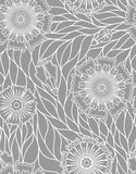 Floral texture gray Stock Image