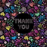 Floral thank you card Royalty Free Stock Photo