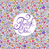 Floral thank you card Stock Images