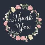 Floral Thank You vector illustration