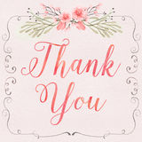 Floral Thank You Royalty Free Stock Images