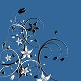Floral_theme_04. Floral theme over blue background. Colors are very easy to change vector illustration