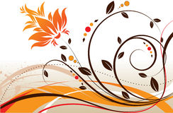Floral theme. Abstract vector illustration. Suits well for design Stock Image