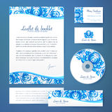 Floral theme business style vector template Royalty Free Stock Image