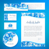 Floral theme business style vector template Royalty Free Stock Photography