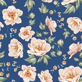Floral tile pattern. Royalty Free Stock Photography