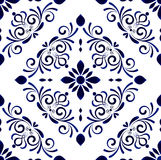 Floral tile pattern Stock Photography