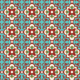 Floral Tile Stock Photo