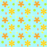 Floral tiles Royalty Free Stock Image