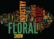 Floral Trade Shows Text Background  Word Cloud Concept Royalty Free Stock Photo