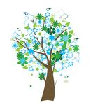 Floral tree. Beautiful floral tree with birds Stock Photography