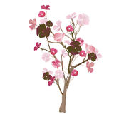 Floral tree. Illustration of a floral tree Stock Image