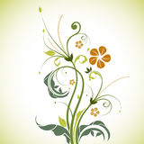 Floral tree. Illustration of floral tree on white  background Stock Photos