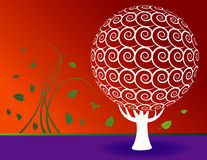 Floral Tree Background Royalty Free Stock Photos