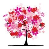 Floral tree beautiful stock illustration
