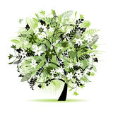 Floral tree beautiful royalty free illustration