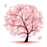 Floral tree beautiful Stock Photography