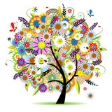Floral tree beautiful Royalty Free Stock Image