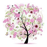 Floral tree beautiful. Vector illustration Stock Photography