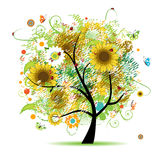 Floral tree beautiful Royalty Free Stock Photography