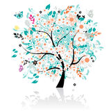 Floral tree beautiful Stock Photo