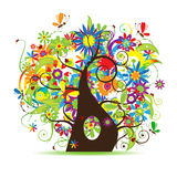 Floral tree beautiful. Vector illustration Royalty Free Stock Photography