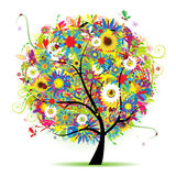 Floral Tree Beautiful, Summer Stock Photo