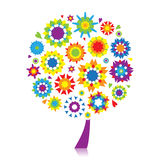 Floral tree beautiful for your design Royalty Free Stock Photo